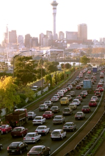 Morning inbound traffic, on ramp to Harbor Bridge